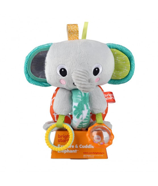 Pelúcia Explore e Cuddle Elephant Bright Starts