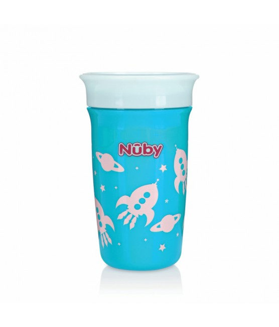 Copo Decorado 360 Nûby 300ml Azul