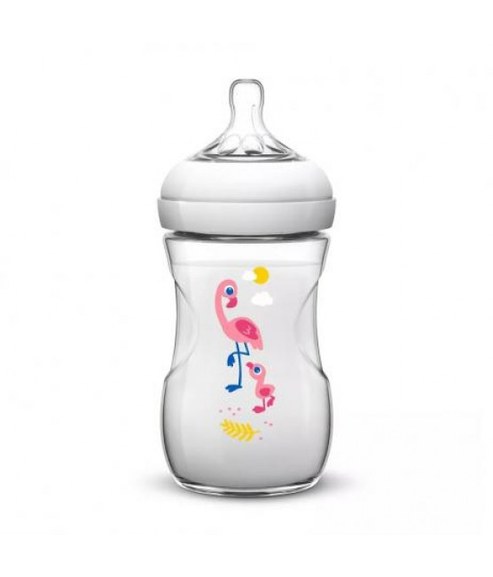 Mamadeira Pétala Decorada Flamingo 260 ml