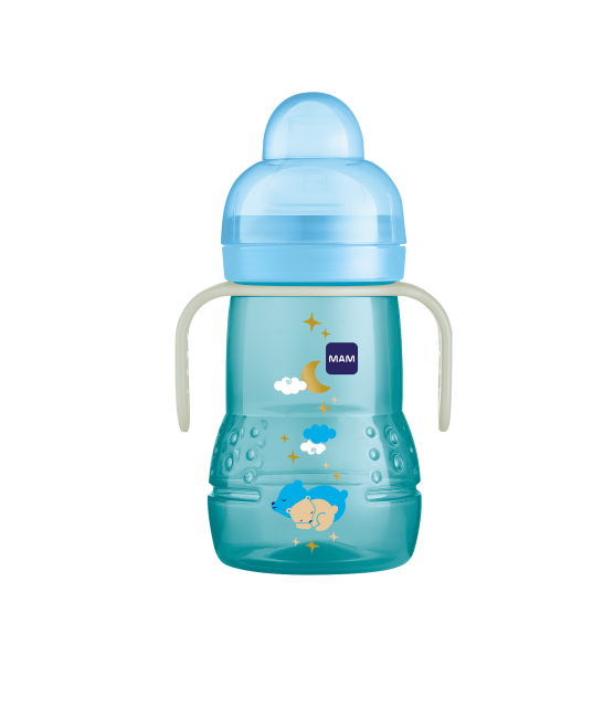 Copo MAM Trainer + Night 220ml Azul