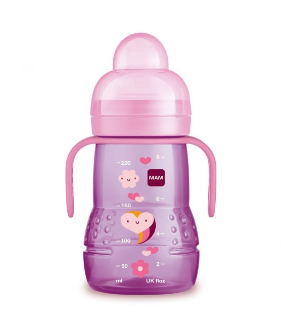 Copo MAM Trainer + 220ml Rosa