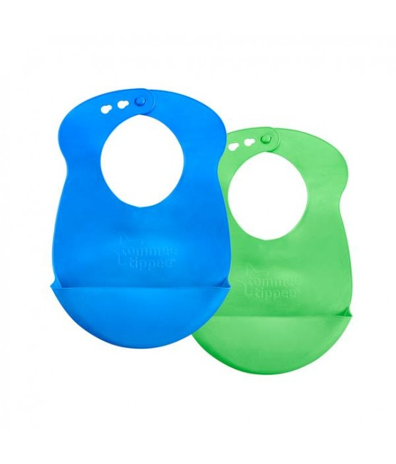 Kit 2 Babadores Roll n´ go Tommee Tippee - Menino