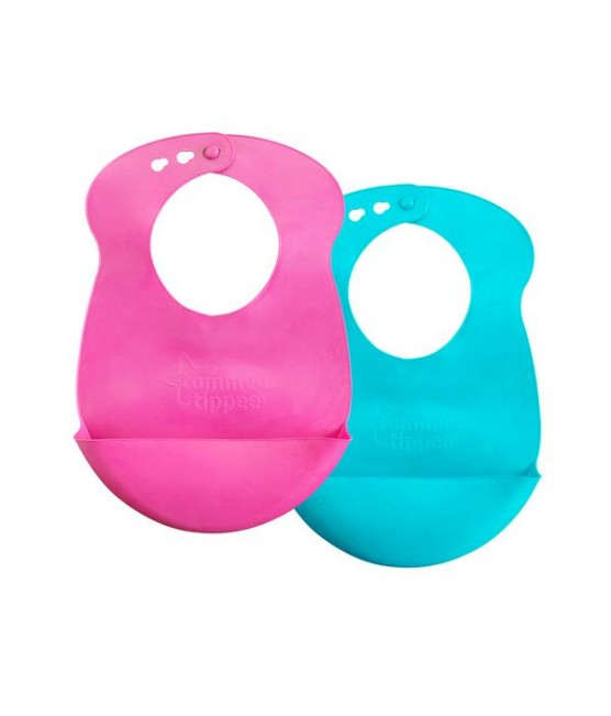 Kit 2 Babadores Roll n´ go Tommee Tippee - Menina