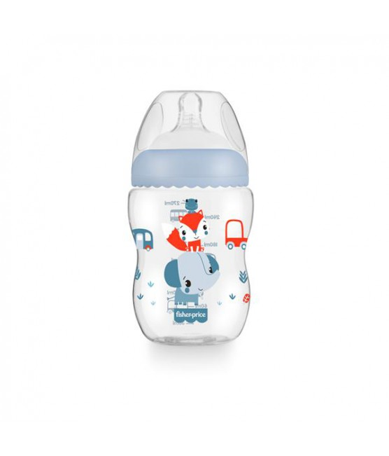 Mamadeira First Moments Azul Marshmallow Fisher Price 270 ml