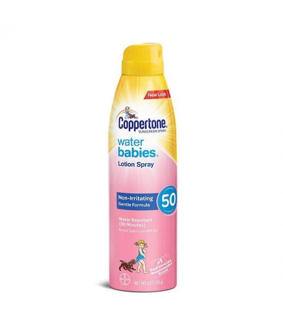 Protetor Solar Coppertone Water Babies Spray SPF50 170 Gramas