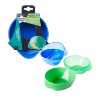 Kit 4 Pratos Fundos Easy Scoop - Menino