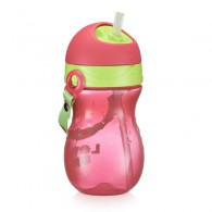 Copo com Canudo Playful Fisher Price Rosa Ballet 360ml